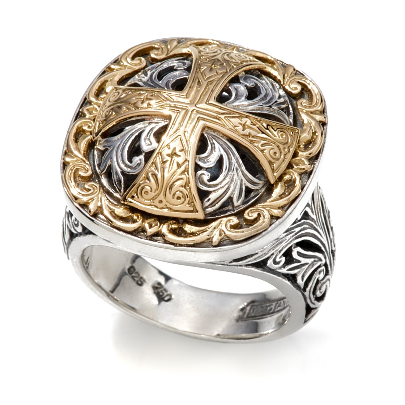 Konstantino Women's Silver & 18k Gold 66 Ring, Size 8