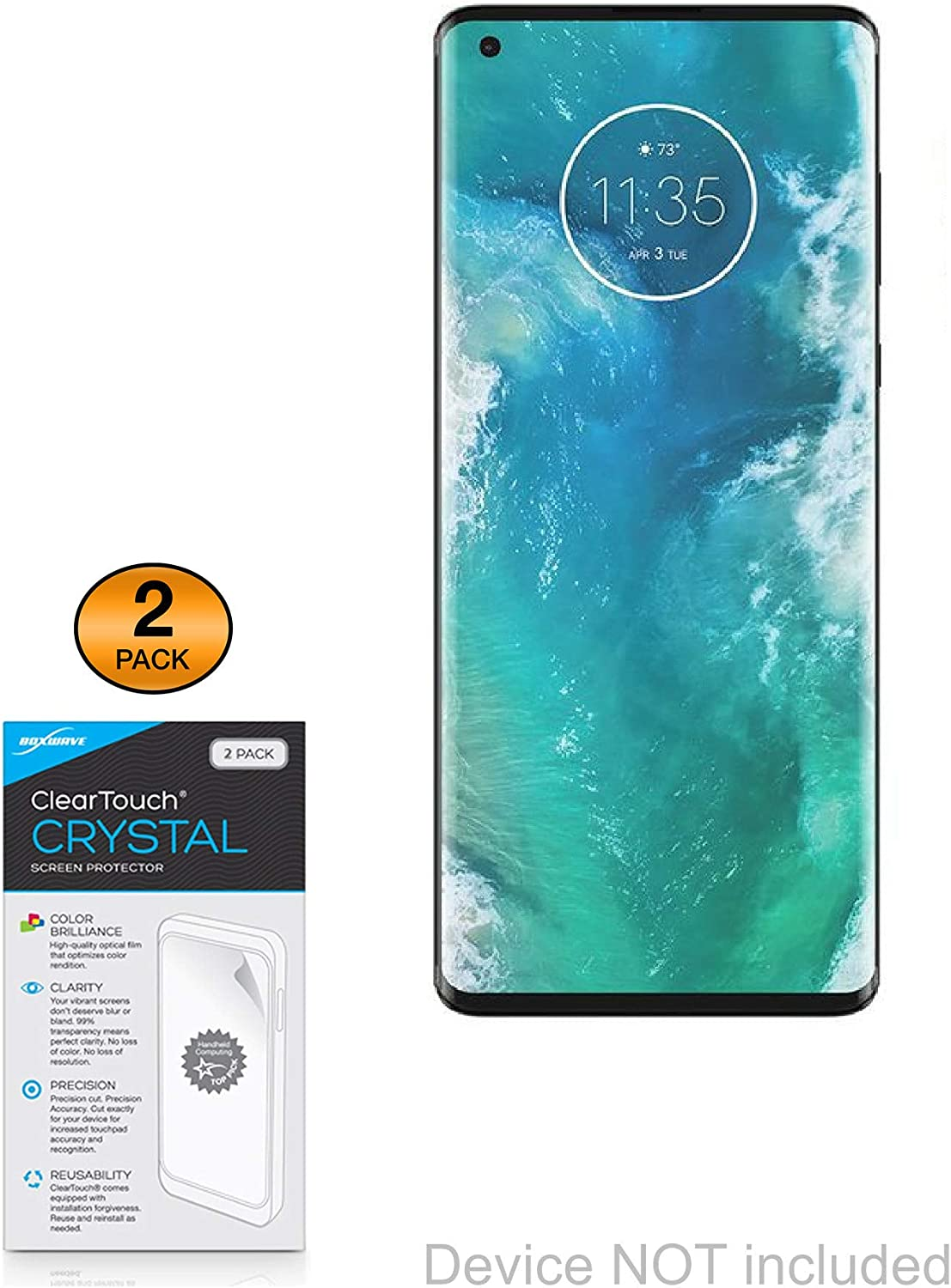 2X BROTECT HD-Clear Screen Protector for Motorola Moto Z2 Force Crystal-Clear Hard-Coated Dirt-Repellent