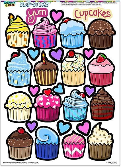 Gráficos y más cute Cupcakes – Sweet Treats – slap-stickz de postre (TM) parte de Recortes Craft para lunas de coche Locker pegatinas: Amazon.es: Juguetes y juegos