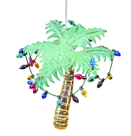 Glass Tropical Palm Tree Ornament with Holiday Lights 4.25 Inches - Amazon.com: Glass Tropical Palm Tree Ornament With Holiday Lights