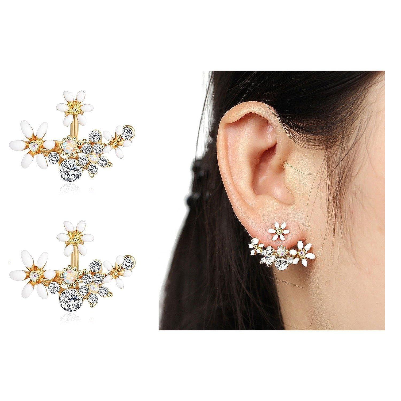 bb6849976 shining diva fashion white crystal stylish fancy party wear stud earrings  for women & girls(