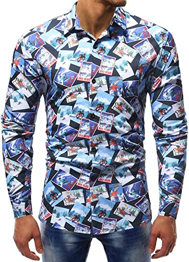 Poachers Camisas Hawaianas Hombre Tallas Grandes Camisas Hombre Manga Larga Tallas Grandes Camisas Hombre Verano Manga Larga Camisetas Hombre Originales Camisas de Hombre Estampadas: Amazon.es: Ropa y accesorios