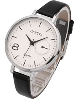 Top Plaza Womens Ladies Analog Quartz Wrist Watch - Fashion Simple Watch with Thin Leather Band