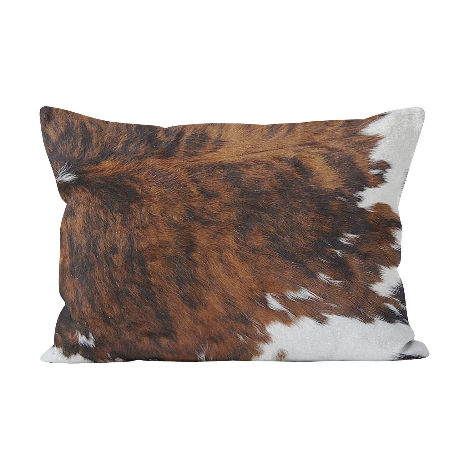 Skully Hot Lumbar Leather Cowhide Brown Black White Fabric Hidden Zipper Home Decorative Rectangle Throw Pillow Cover Cushion Case 12x24 inch One Side Design Printed Pillowcase