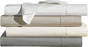 Brielle Home 400 Thread Count Ultra Soft 100% Cotton Sheet Set, King, Ivory (807000268627)