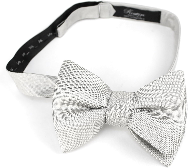 Reattire Mens Classic Pre-Tied Satin Formal Tuxedo Bowtie Adjustable Length