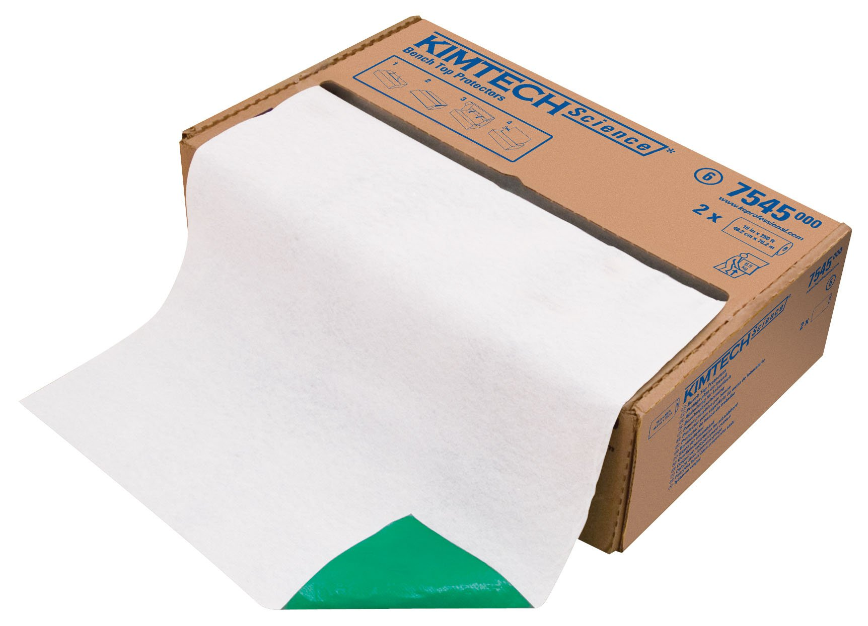 Kimberly-Clark Kimtech Science 75460 Bench Top Protector Disposable Wiper Sheet, 19-1/2'' Length x 18'' Width (8 Bags of 50)
