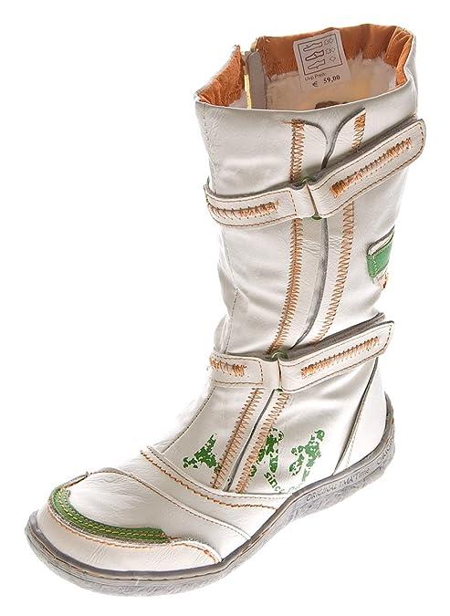 TMA Damen Leder Winter Stiefel Comfort Boots 14411 Schuhe gefüttert