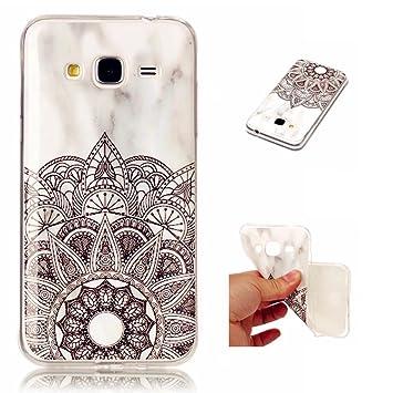 Samsung Galaxy J3 case,MUTOUREN Textura de Mármol Carcasa de ...