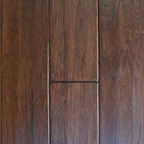 Millstead Handscrape Hickory Cocoa 34 In Thick X 4 In Wide X