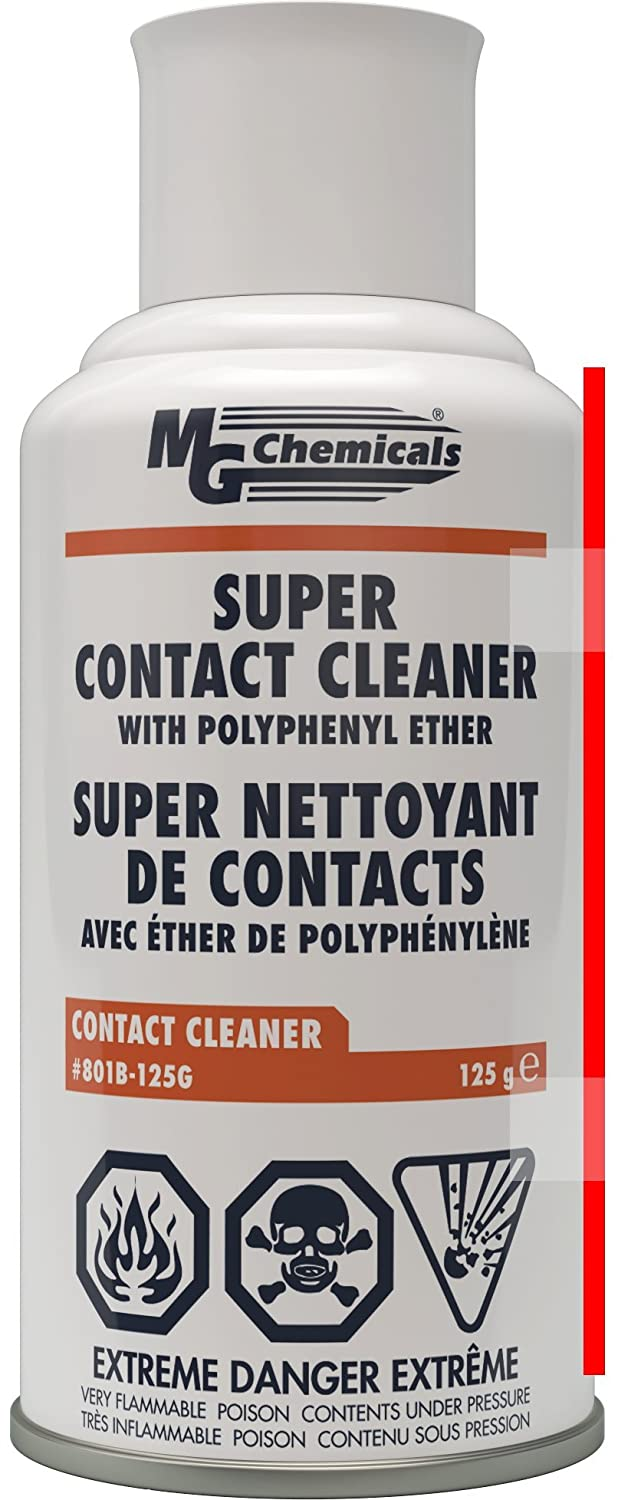 MG Chemicals 801B Super Contact Cleaner with PPE, 4.5 oz Aerosol (801B-125G)