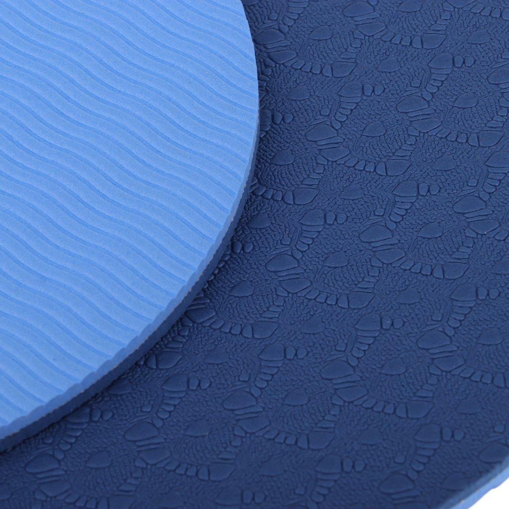 Beige MagiDeal Coj/ín de Ejercicio de Yogates de 6mm para Estera de Cabeza de Codo de Rodilla