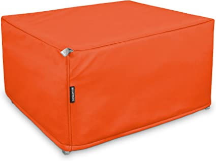 HAPPERS Puff Cama Somier Plegable Polipiel Indoor Naranja