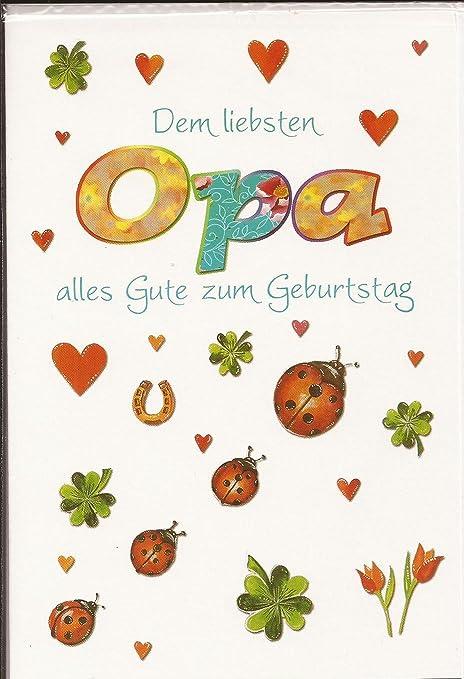 Geburtstagskarte Dem Liebsten Opa Alles Gute Zum Geburtstag Amazon