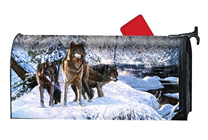 Amazon.com: BYUII Wolf Wolves Forest Winter Painting Art ...