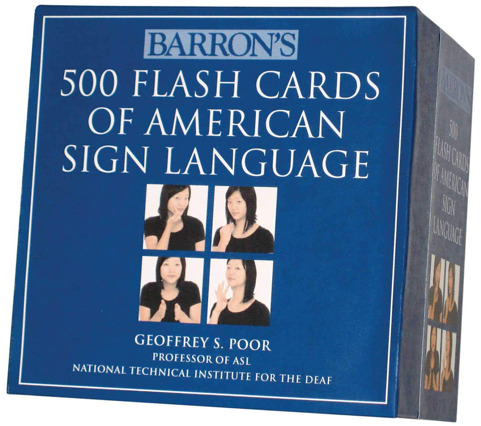 Barron's 500 Flash Cards of American Sign Language by Barrons Educational Series