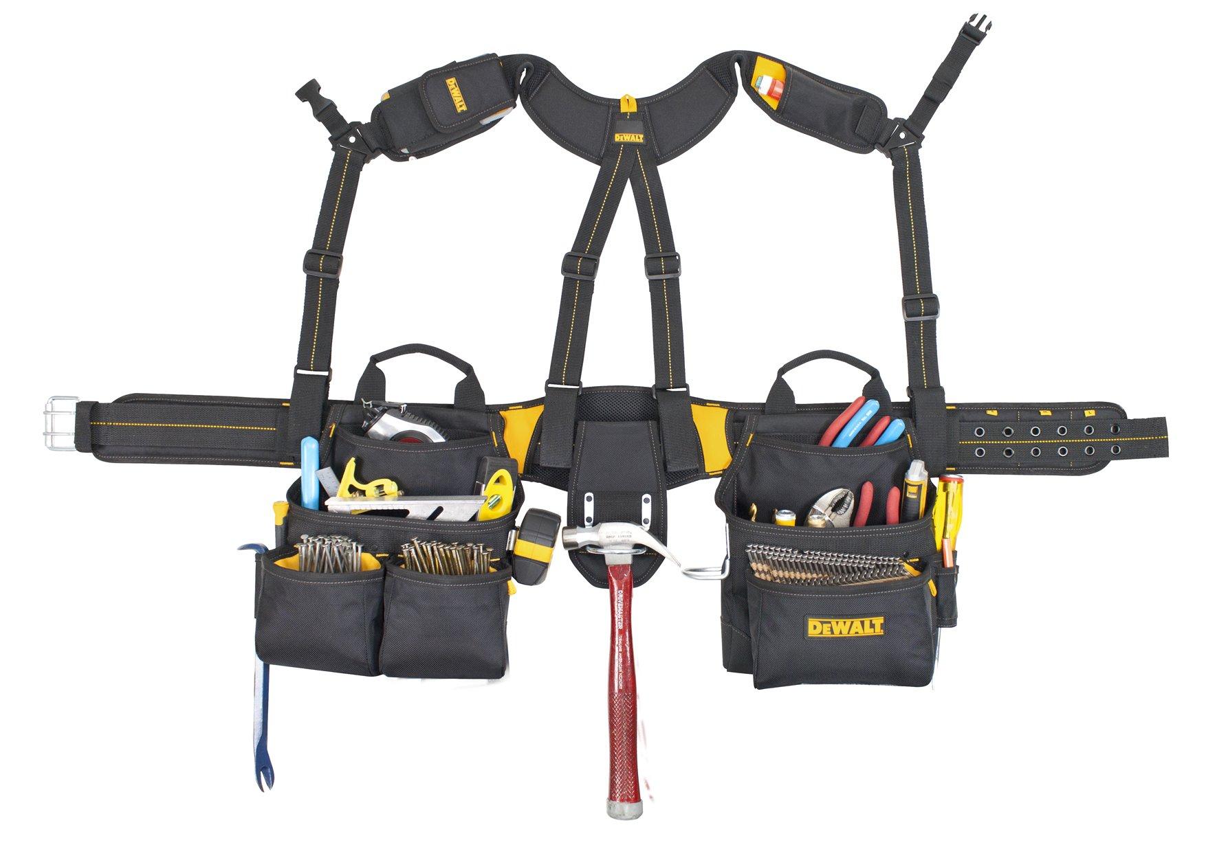 DEWALT DG5617 20-Pocket Pro Framer's Combo Apron Tool Belt and Yoke-style Suspenders by DEWALT