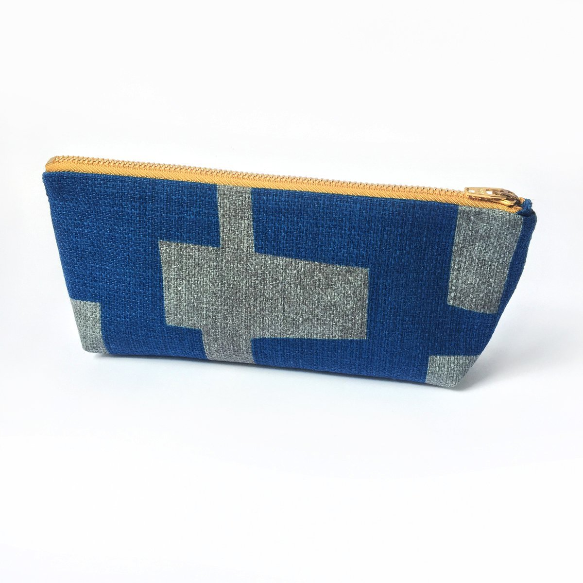 Pencil Case, Minimalist, Travel Gift, Pencil Pouch, Unisex - Blue Grey