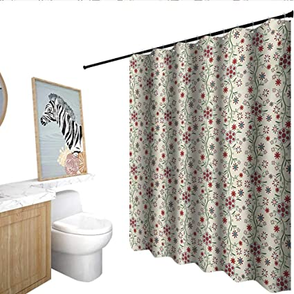 Amazon Floral Fabric Shower Curtain Vintage Shabby Chic