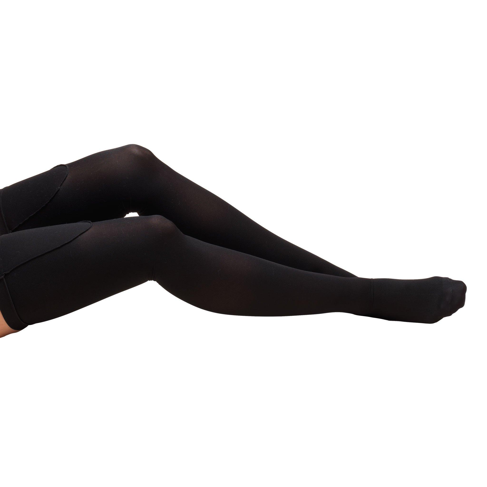 Truform Closed Toe, Thigh High 18 mmHg Anti-Embolism Stockings, Black, X-Large