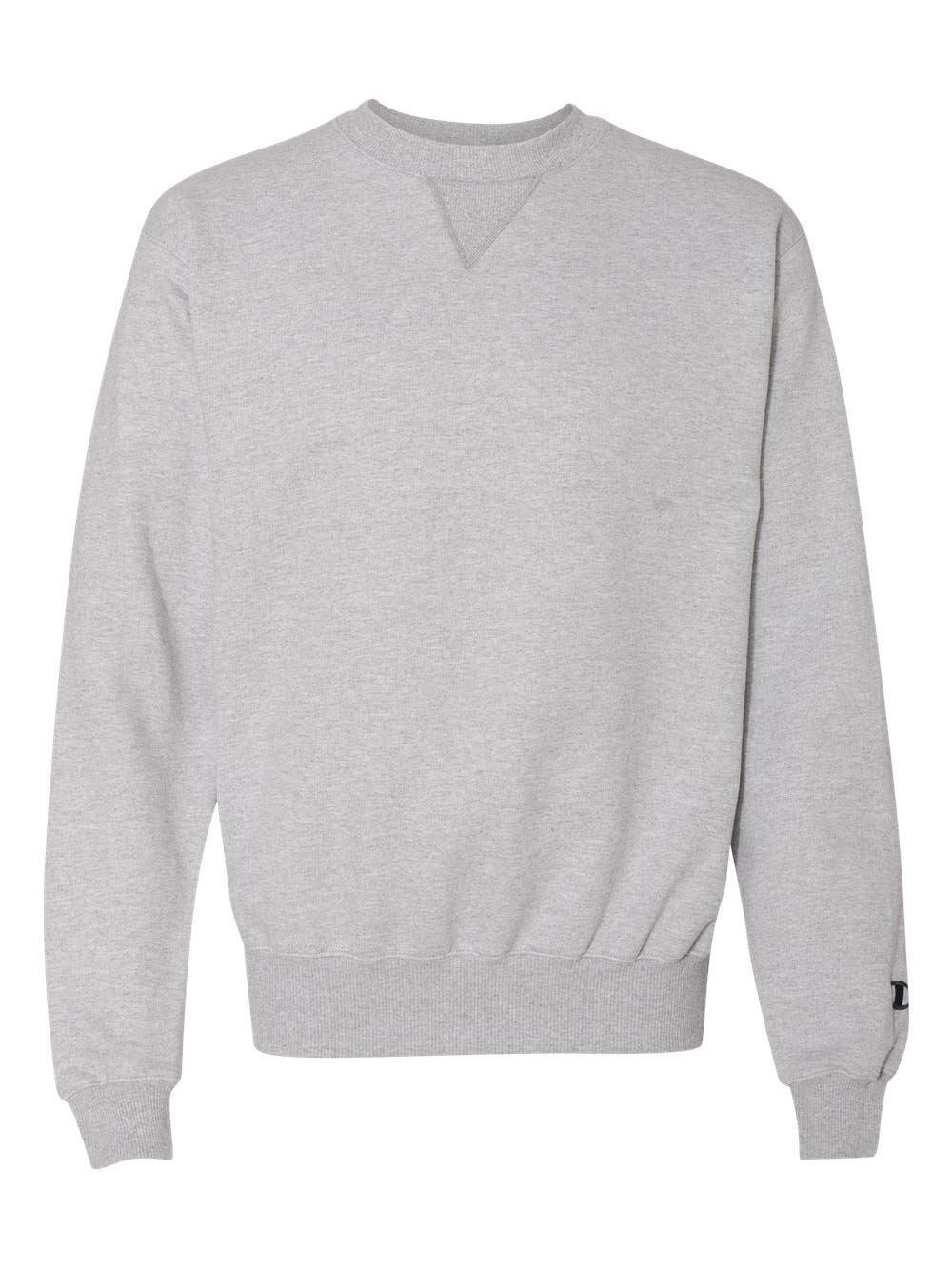 Champion Men's Max Crewneck Full Athletic Fit Sweatshirt, silver gray, Medium