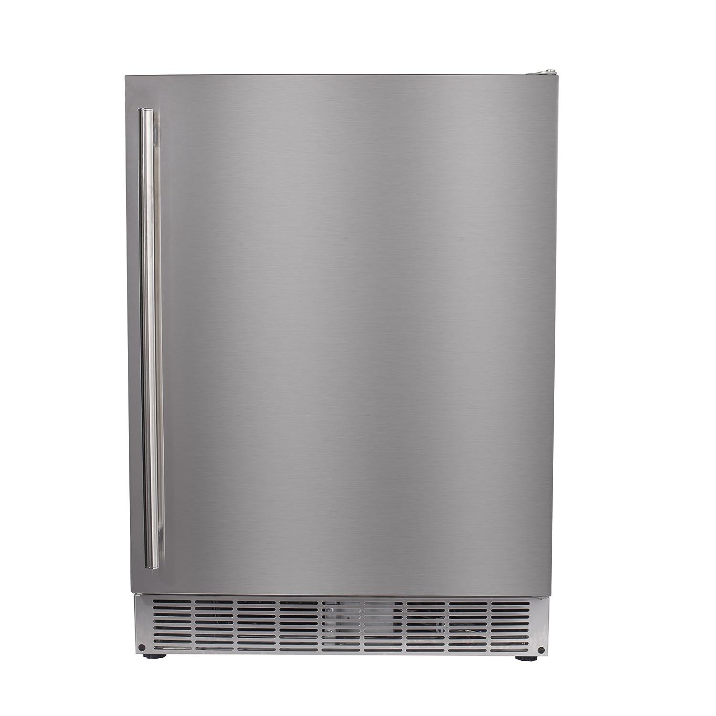 "Maxx Ice MCR5U-O 24"" Built-In Undercounter Outdoor Refrigerator Beverage Center – 5 cu ft in Stainless Steel"