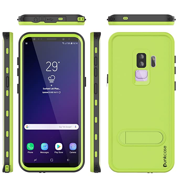 buy online 8b8be f4940 Galaxy S9 Plus Waterproof Case, Punkcase [Kickstud Series] [Slim Fit] [IP68  Certified] [Shockproof] [Dirtproof] [Snowproof] Armor Cover for Samsung ...