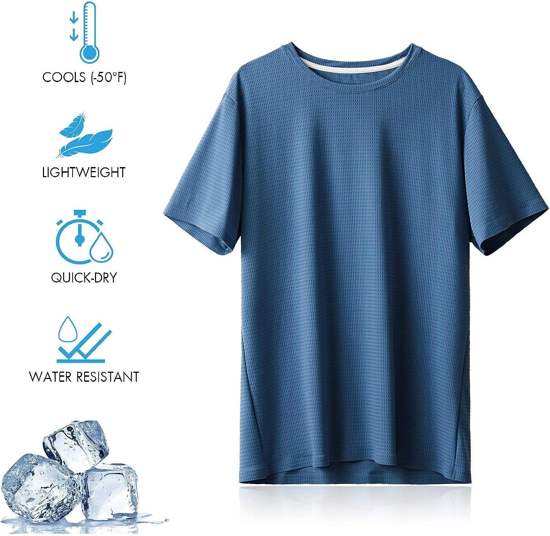 BALEAF Men's EVO Cooling Workout Running Athletic Shirts Quick Dry Soft UPF 50+ Short Sleeve Lightweight T-Shirt