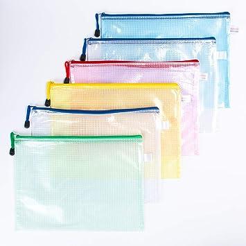 HomJoy - Carteras de plástico A4, con cierre de cremallera, para archivos, organizar, escuela, oficina, carpeta con cremallera: Amazon.es: Oficina y ...