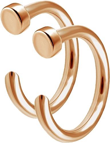 Amazon Com Bodyjewellery 2pcs 20g 0 8mm Nose Ring Stud Hoop