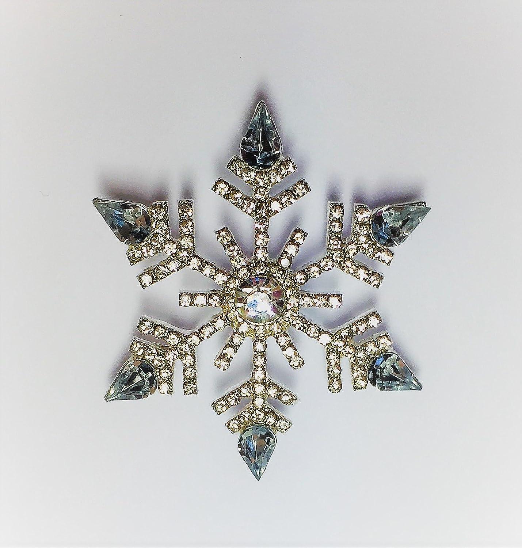 Silver Snowflake Holiday Pin