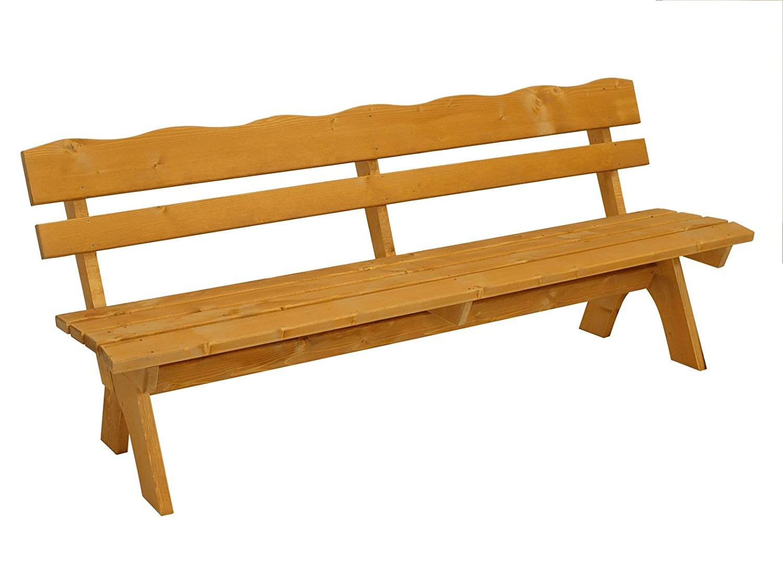 Massivholz Gartenbank FREITAL 200cm, Kiefer 35mm, imprägniert günstig