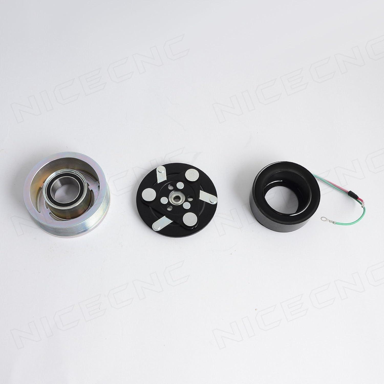 NICECNC AC A/C Compressor Clutch Plate Pulley, Coil, Bearing Repair Kit for Honda Cr-V 2007 2008 2009 2010 2011 2012 2013 2014
