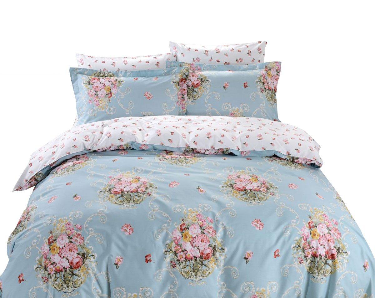 Amazon.com: DM601Q Duvet Cover Sheets Set, Dolce Mela Livorno Queen ...