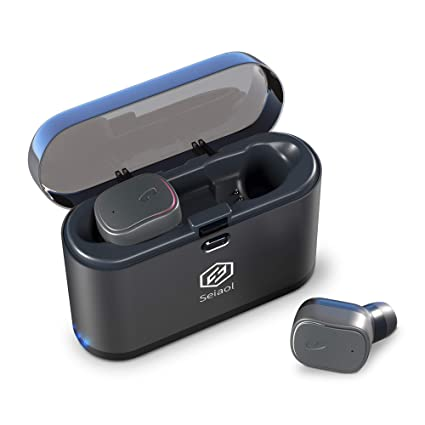 Seiaol - Auriculares inalámbricos Bluetooth 5.0 True inalámbricos Bluetooth 15H reproducción estéreo 3D, Auriculares inalámbricos