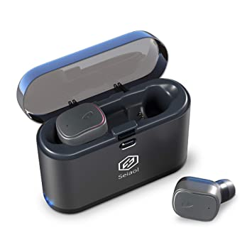 Seiaol - Auriculares inalámbricos Bluetooth 5.0 True inalámbricos Bluetooth 15H reproducción estéreo 3D, Auriculares inalámbricos, micrófono Integrado: ...