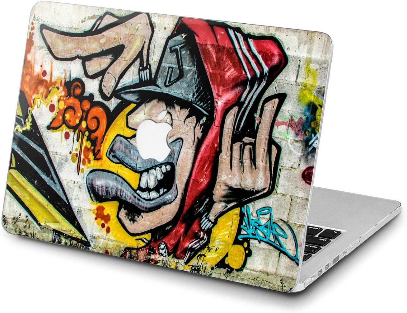 Lex Altern Hard Case for Apple MacBook Pro 15 Air 13 inch Mac Retina 12 11 2020 2019 2018 2017 2016 Graffiti Touch Bar Shell Cool Cover Art Yellow Print Street Design Colorful Laptop Women Urban