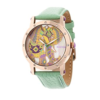 Amazon.com  Bertha Betsy MOP Leather-Band Ladies Watch - Rose Gold Mint   Bertha  Watches c5f1a27fe9a6