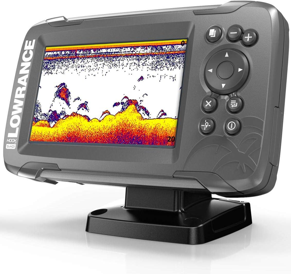 Lowrance HOOK2-5X Hook2 Splitshot-GPS (HDI, localizador de Peces, 12,7 cm/5