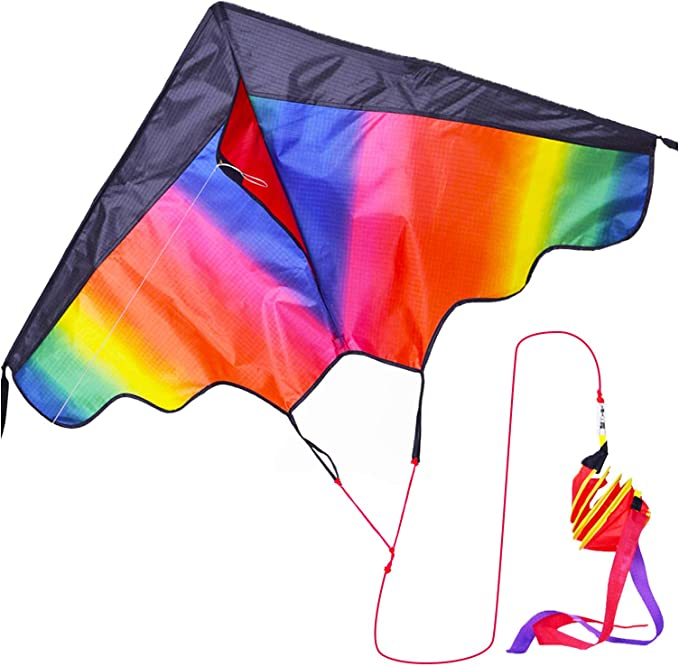 1* Large delta kite For kids and adults single easy line to kite fly include