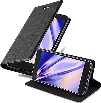Cadorabo Funda Libro para LG Nexus 5X en Negro Antracita ...