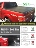 Premium Tri-Fold Truck Bed Tonneau Cover 2009-2014 Ford F-150 (Excl. Raptor Series) | Styleside 5.5' Bed | For models without Utility Track System