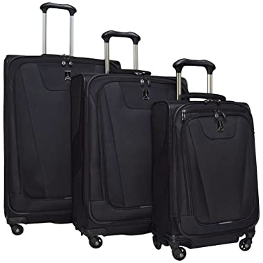 Travelpro Maxlite 4 3 Piece Set: Expandable 29  Spinner, Expandable 25  Spinner and Expandable Carry-on Spinner, Black