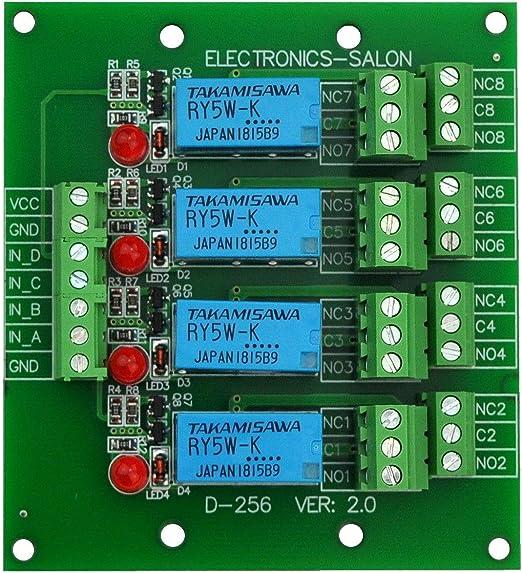 DPDT Signal Relay Module Board 5Vdc TAKAMISAWA RY5W-K Relay.