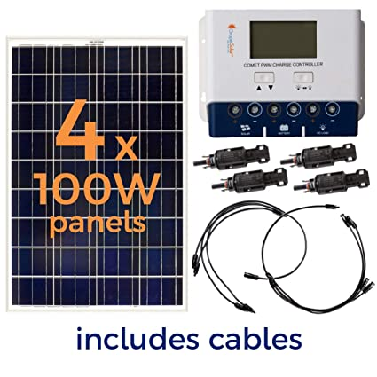 G Solar GS-400-KIT 400-Watt Off-Grid Solar Panel Kit on