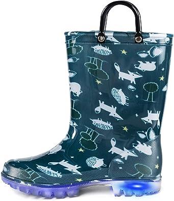 K KomForme Toddler Kids Rain Boots