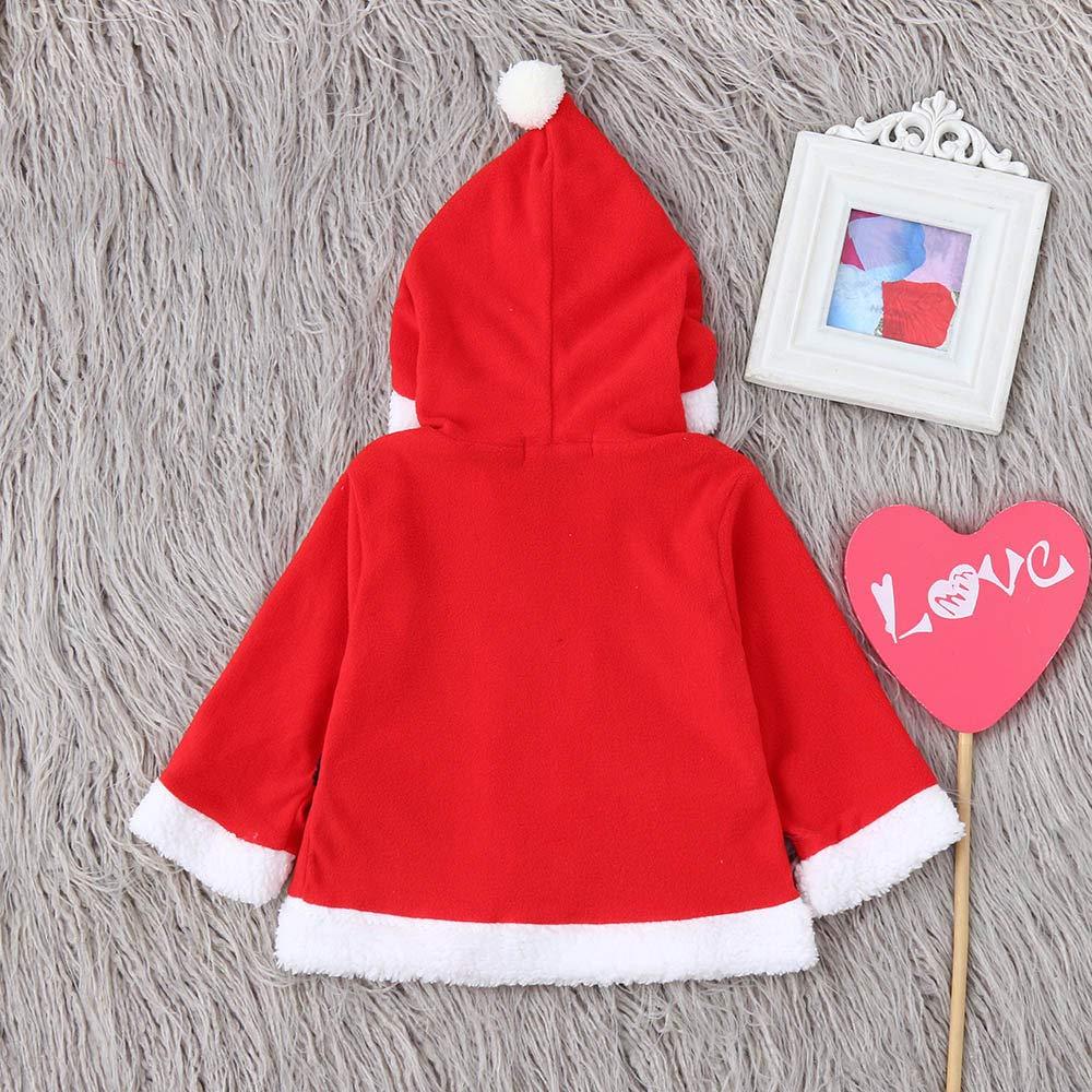 Anxinke Baby Boys Girls Christmas Soft Belted Hooded Coat