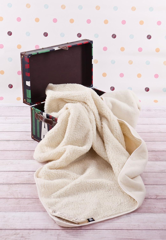 WOOLMARKED Bambini Coperta Coperta in Lana Merino Coperta Neonati Bambino Coperta 140 x 100 cm Coperta del Bambino Baby Coperta Regalo Perfetto Baby Blanket Prodotto Naturale