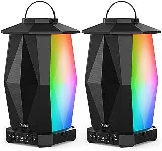 Olafus Outdoor Lantern Speaker 2 Pack Speakers Black & White