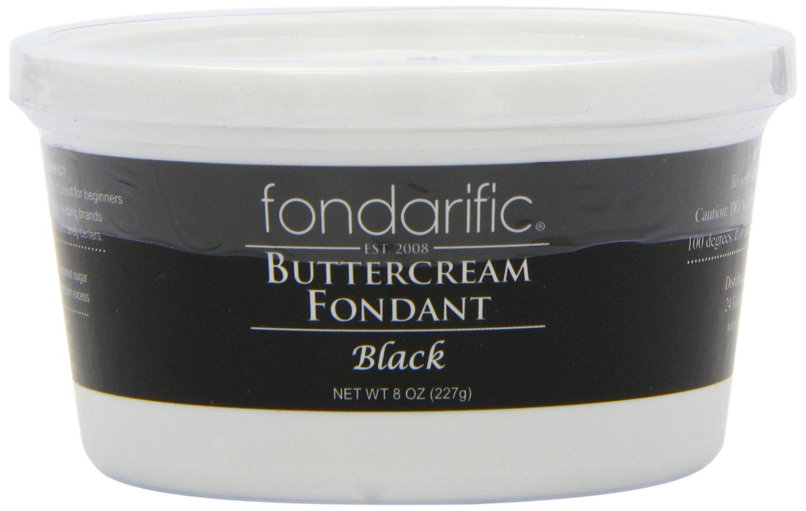 Fondarific Buttercream Fondant, Black, 8 Ounce